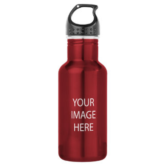 Create Your Own Custom 18 oz Red Water Bottle