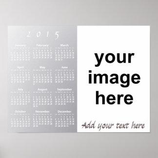 Create Your Own Custom 2015 Photo Wall Calendar Posters