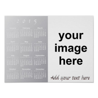 Create Your Own Custom 2015 Photo Wall Calendar Poster
