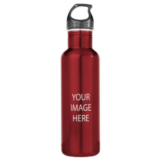 Create Your Own Custom 24 oz Red Water Bottle