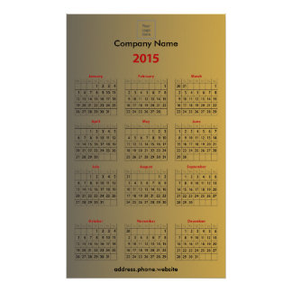 Create Your Own Custom Business Promo Calendar Poster