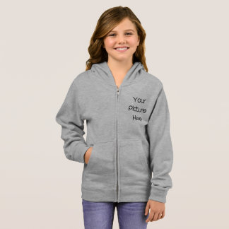 Create Your Own Custom Girl's Basic Zip Hoodie