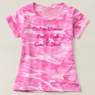 Create Your Own Custom Girly Pink Camo T-shirt