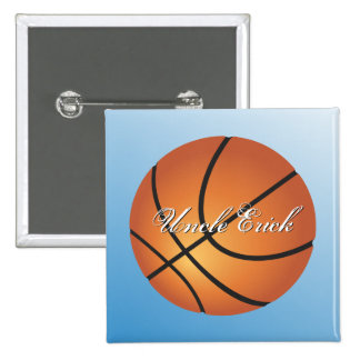 Create your Own Custom Monogram Basketball 2 Inch Square Button