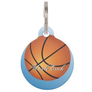 Create your Own Custom Monogram Basketball Pet Tag