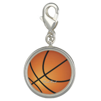 Create your Own Custom Monogram Basketball Photo Charms