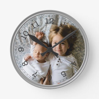 Create Your Own Custom Photo Modern Round Clock