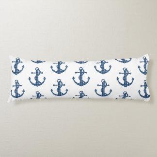 Create your own custom   Plaid tartan blue anchor Body Pillow