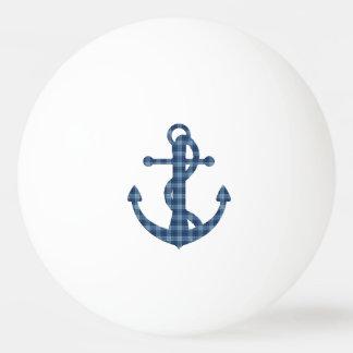 Create your own custom | Plaid tartan blue anchor Ping Pong Ball