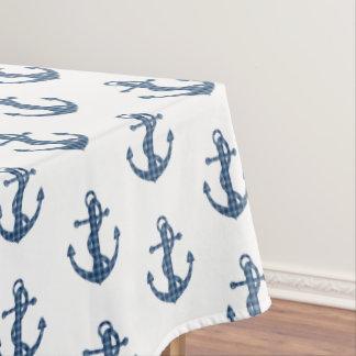 Create your own custom | Plaid tartan blue anchor Tablecloth