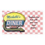 Create Your Own Custom Retro 50's Diner Sign Pack Of Standard Business Cards