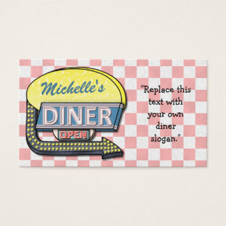 Create Your Own Custom Retro 50's Diner Sign Business Card