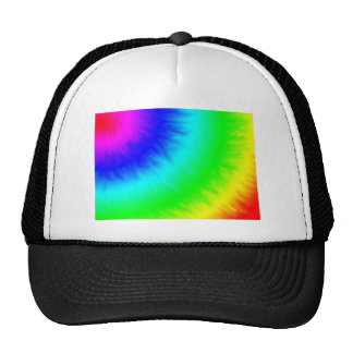 create your own custom tie dye template trucker hat