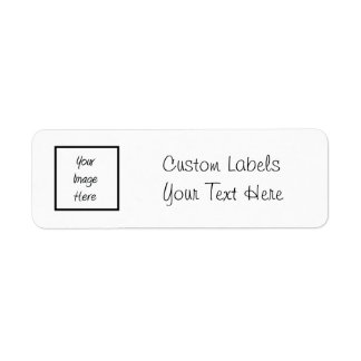 Create Your Own - Customize Blank Return Address Label