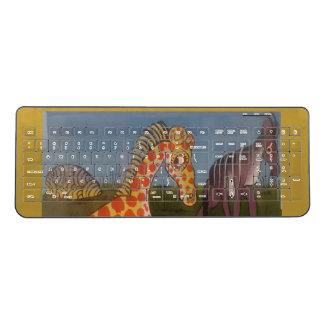 Create Your Own Cute African Safari giraffe Kenya Wireless Keyboard