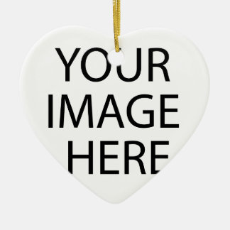 Create your own design & text ceramic heart ornament