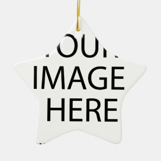 Create your own design & text ceramic star ornament