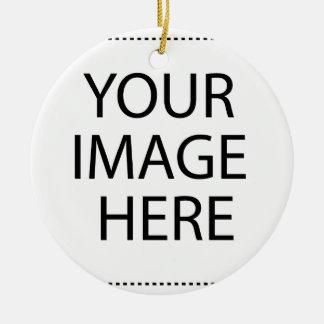 Create your own design & text round ceramic ornament