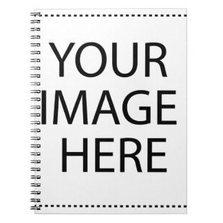 Create your own design & text :-) spiral note books