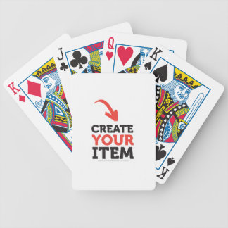 CREATE-YOUR-OWN DIY Custom Print (Color Options) Bicycle Playing Cards