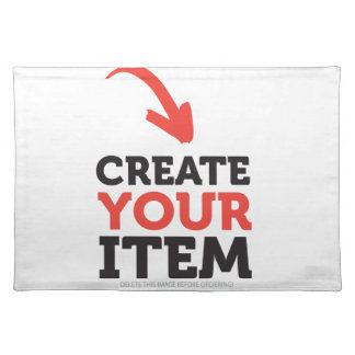 CREATE-YOUR-OWN DIY Custom Print (Color Options) Placemat