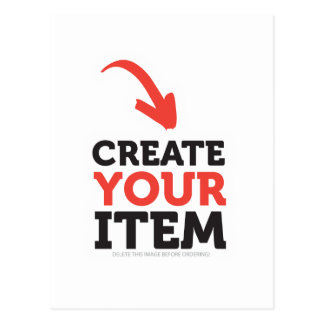 CREATE-YOUR-OWN DIY Custom Print (Color Options) Postcard