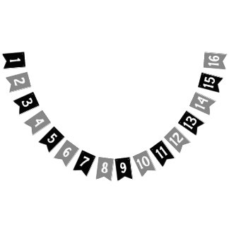 CREATE-YOUR-OWN DIY Custom TEXT design black gray Bunting Flags