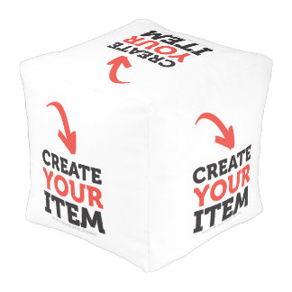 CREATE-YOUR-OWN DIY Custom upload your design Pouf