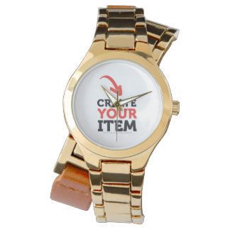 Create-your-Own DIY Gold Classy Woman Watch