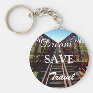 Create your own Dream Save Travel photo keyring