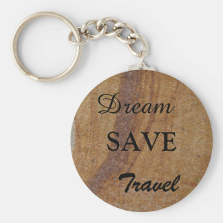 Create your own Dream Save Travel photo keyring Basic Round Button Keychain
