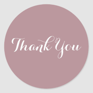 Create Your Own Dusty Rose Thank You Classic Round Sticker
