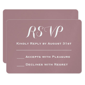 Create Your Own Dusty Rose Wedding RSVP Card