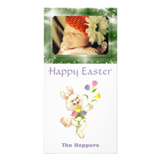 Create Your Own Easter Photo | Cute Easter Bunny Picture Card