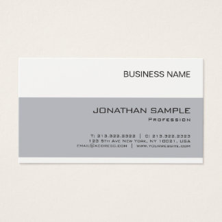 Create Your Own Elegant Company Simple Plain Business Card