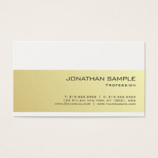 Create Your Own Elegant Gold Look Modern Sleek Business Card