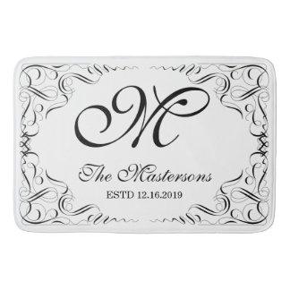 Create Your Own Elegant Graceful Wedding Monogram Bath Mat