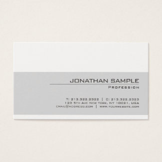 Create Your Own Elegant Gray White Modern Simple Business Card
