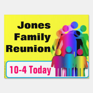 Create Your Own Family Happening Related Yard Sign