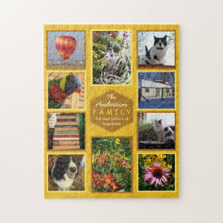 Create Your Own Family Photo Collage Name Honey Jigsaw Puzzle