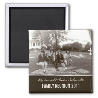 Create Your Own Family Reunion Vintage Style Square Magnet