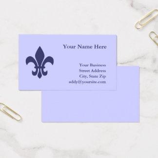 Create Your Own Fleur de Lis Business Card