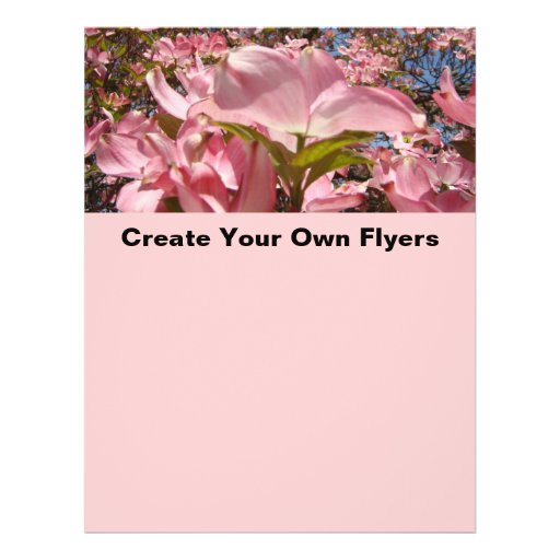 Create your own flyers pink dogwood flowers office zazzle for Design your own office