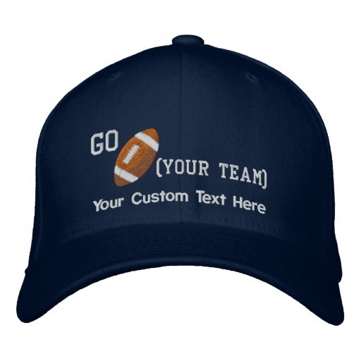 Create Your Own Football Cap Embroidered Baseball Cap