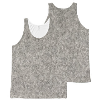 Create your own | Furry grey fabric All-Over-Print Tank Top