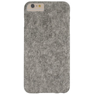 Create your own | Furry grey fabric Barely There iPhone 6 Plus Case