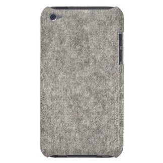 Create your own | Furry grey fabric Barely There iPod Covers