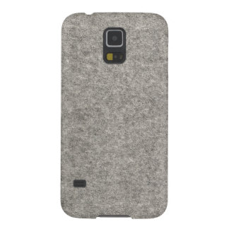 Create your own | Furry grey fabric Galaxy S5 Covers