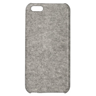 Create your own | Furry grey fabric iPhone 5C Cover