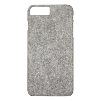 Create your own | Furry grey fabric iPhone 8 Plus/7 Plus Case